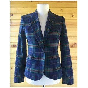 Merona Blue Plaid Check Blazer Jacket 4